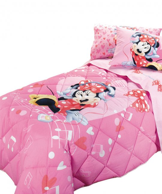 Trapunta Caleffi Disney Minnie Love Music Singola Prezzo Special