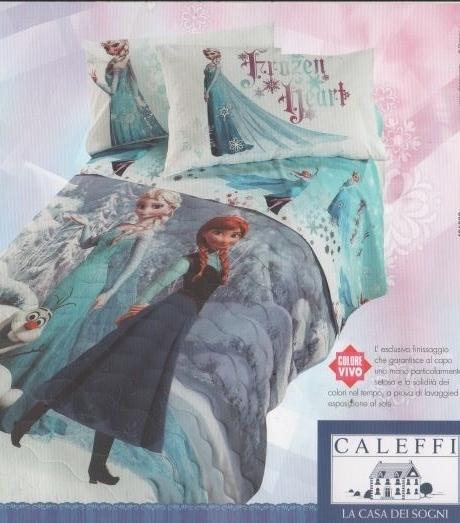 Parure Lenzuola Singole.Lenzuola Parure Singola Caleffi Disney Frozen Elsa Prezzo Offerta