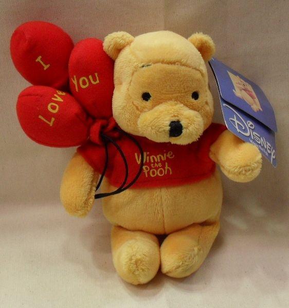 Copripiumino Singolo Winnie The Pooh.Peluche Disney Winnie The Pooh Originale Cm 20 Con Cuore E Scritta Love You