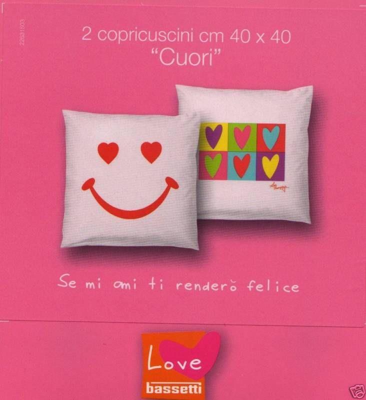Copripiumino Love Therapy Bassetti.Copricuscini Cuscini Arredo Bassetti Love Therapy Cuore Prezzo Offerta