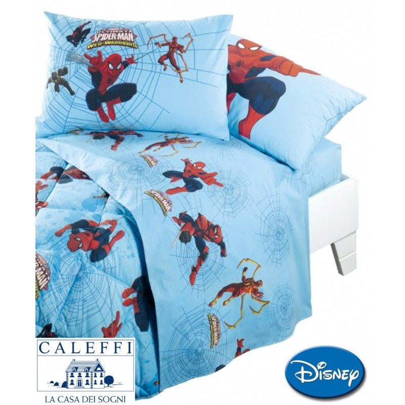 Lenzuola Flanella Letto Singolo.Lenzuola Spiderman Marvel Flanella Caleffi Singola Spiderman Warriors Offerta