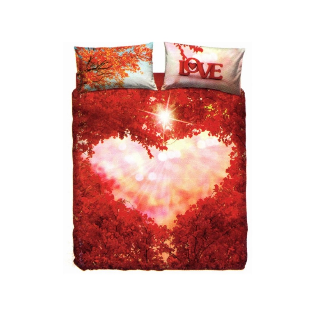 sale retailer 76854 77a99 Copripiumino Bassetti Imagine Innovation Love Everywhere Cuore Matrimoniale