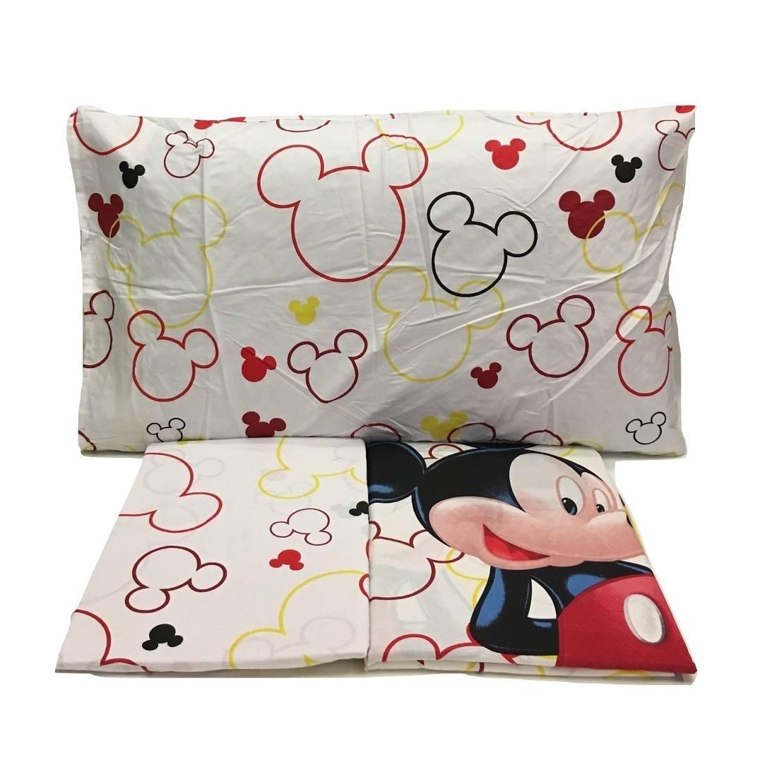 Lenzuola Matrimoniali Mickey Mouse.Lenzuola Topolino Disney Mickey Mouse Misura Singola