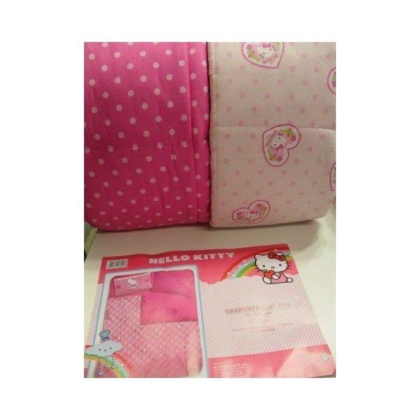 Copriletto Trapuntato Hello Kitty.Trapunta Hello Kitty Disegno Love Colore Rosa