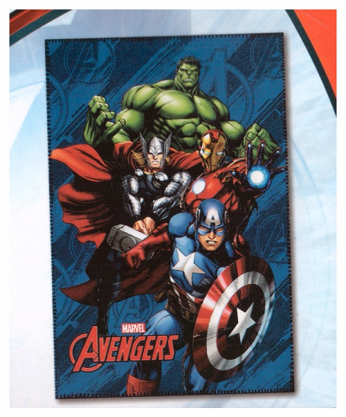 Plaid Avengers Cm 100 x 150 In Pile Iron Man Hulk Thor