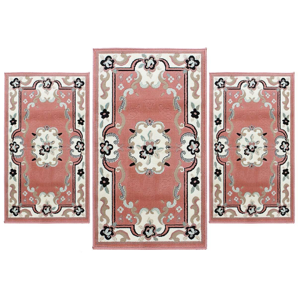 Fabulous scendiletto parure pezzi forma tris tappeto - Tappeto blu camera da letto ...