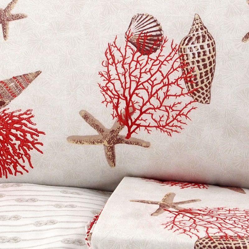 lenzuola matrimoniali con coralli