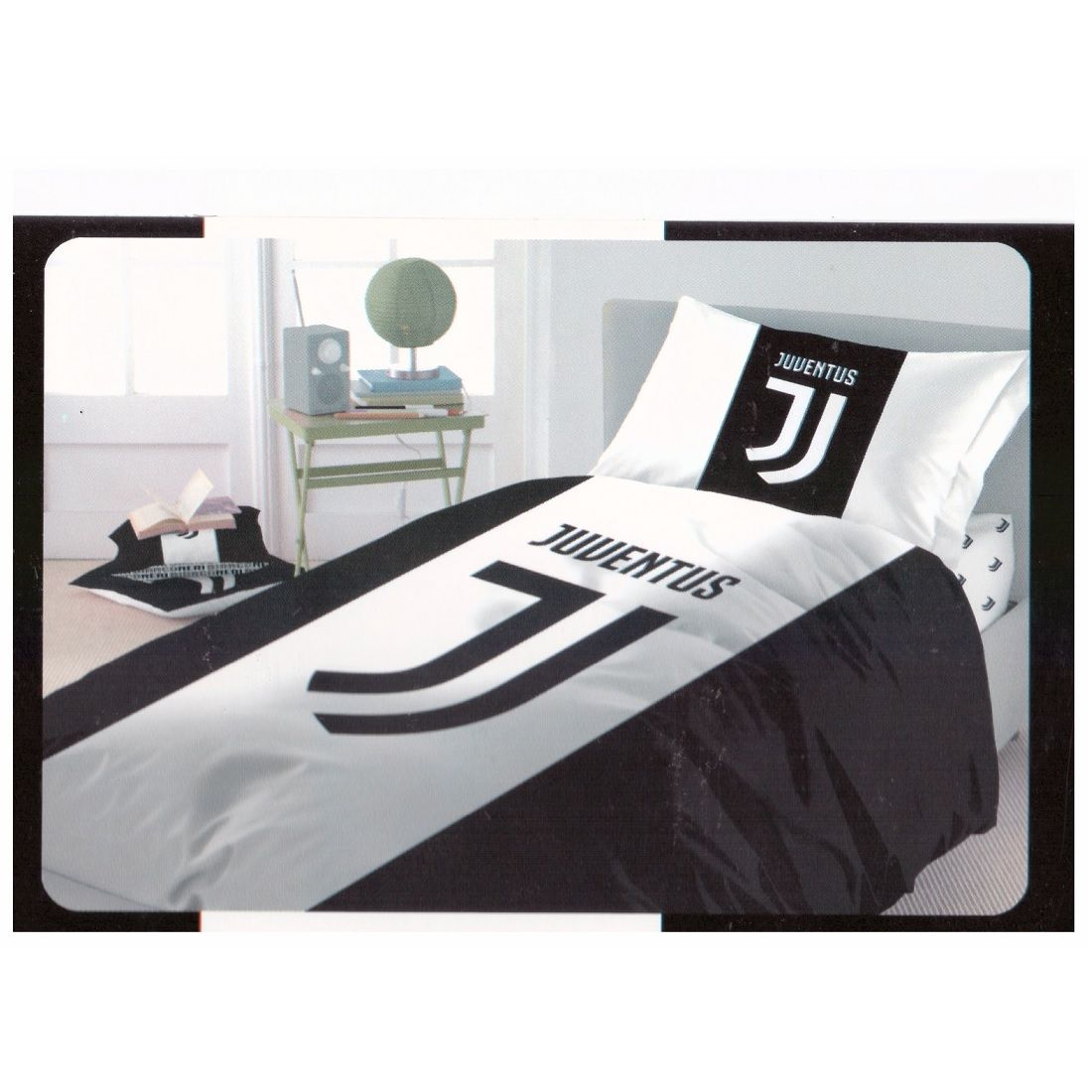 Lenzuola Juventus Completo Letto Singolo Ufficiale FC Juventus Nuovo Logo