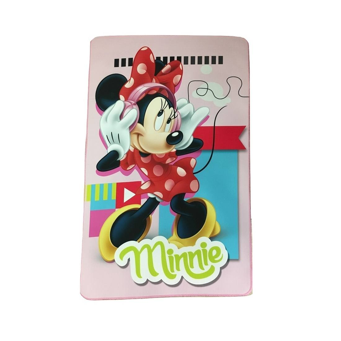Tappeto Disney Minnie Cm 80 x 120 Antiscivolo Per Cameretta Minnie Music