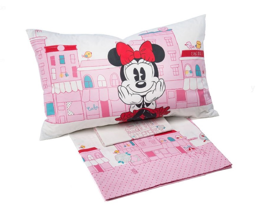 Lenzuola Minnie Disney Flanella Caleffi Singola Minnie City
