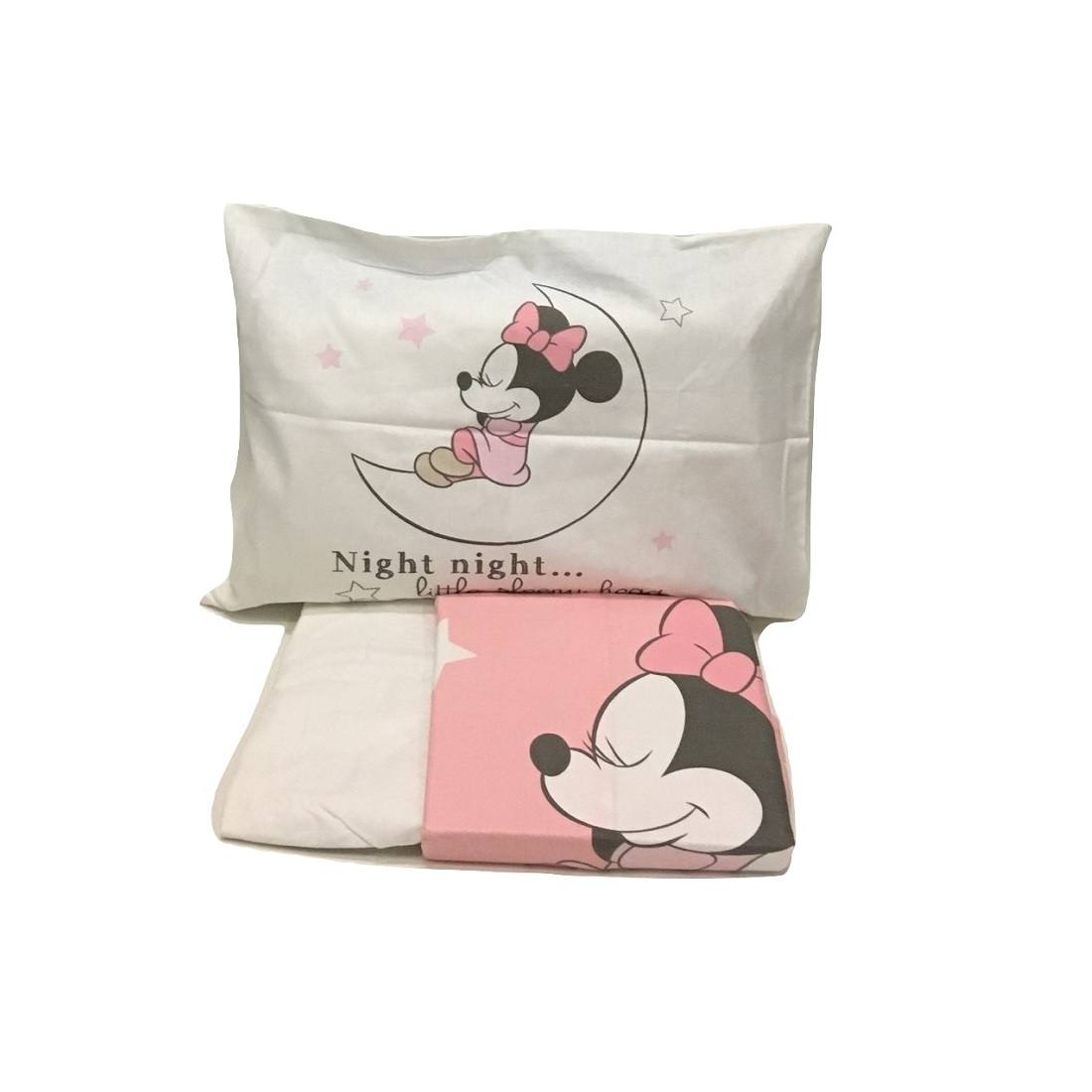 Lenzuola Minnie Disney Culla Lettino Doghe Minnie