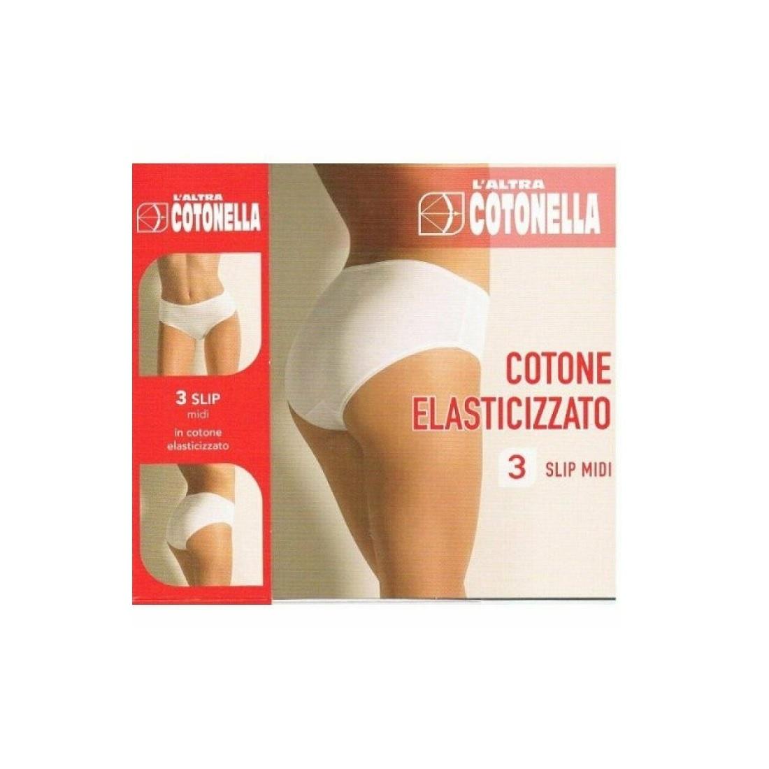 50dbf0812b83 3 Slip Cotonella Articolo 3940 Elasticcizato Midi 3 Pezzi L' Altra Cotonella