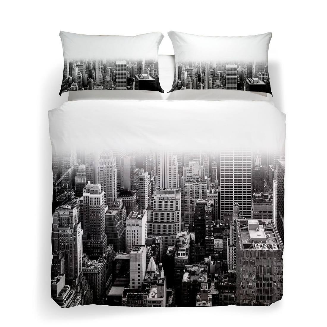Copripiumino Matrimoniale New York.Copripiumino Matrimoniale Caleffi New York Black White Completo Ebay