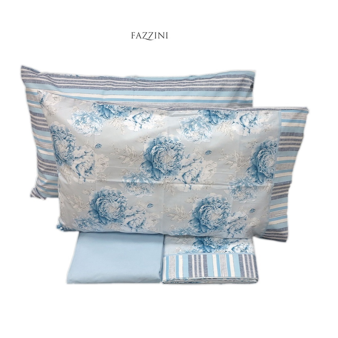 Lenzuola Fazzini Bloom Matrimoniale Puro Cotone Made in Italy