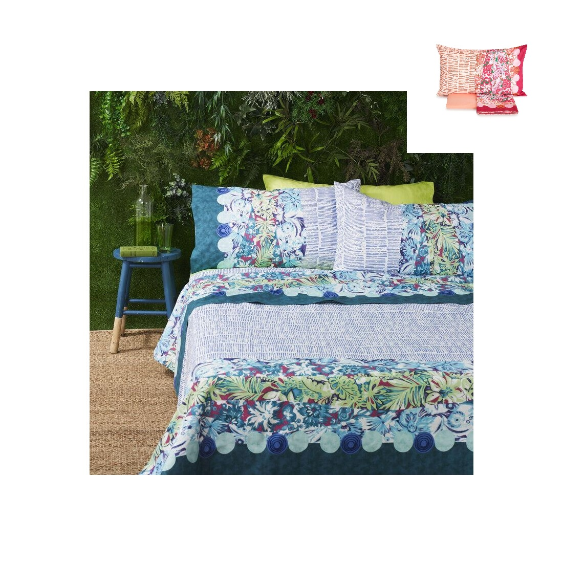 Lenzuola Bassetti Matrimoniale Outdoor Puro Cotone Made In Italy