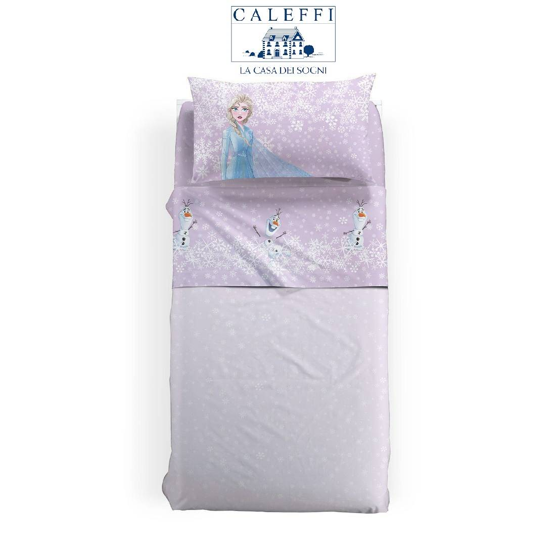 Lenzuola Frozen Disney Caleffi Singola Frozen Magic Puro Cotone