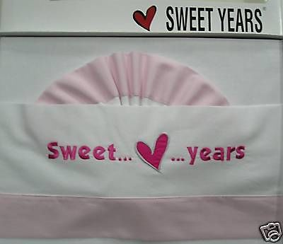 Lenzuola Sweet Years Culla Lettino Con Doghe Ricamata Friends Rosa