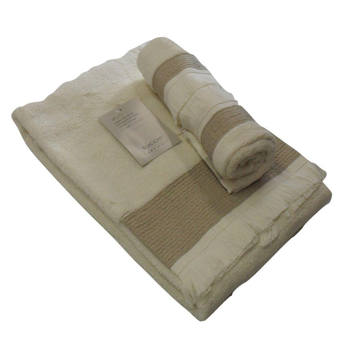 Asciugamano-Zucchi-Con-Ospite-Articolo-Mandy-In-Spugna-Con-Frangia