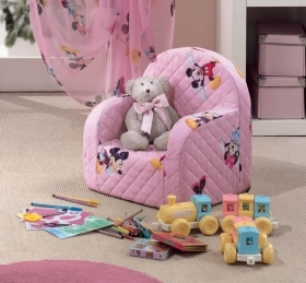 Poltroncina Disney Minnie Topolino Colore Rosa