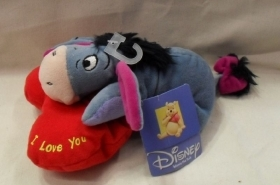 Peluche Disney Ih Ho Asinello Originale Cm 20 Con Cuore E Scritta Love You