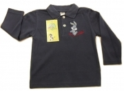 Polo Looney Tunes Bugs Bunnies In Piquet Bambino Manica Lunga