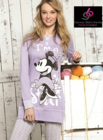 Pigiama Donna Disney Minnie Blusa In Caldo Cotone WD20453