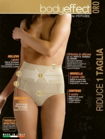 Slip Guaina Body Effect Oro Riduce Di Una Taglia By intimidea