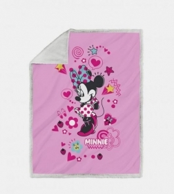 Plaid Minnie Copertina Cm 130 x 160 Stanpa Digitale Minnie Style
