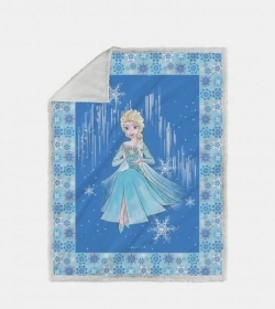 Plaid Frozen Copertina Cm 130 x 160 Stanpa Digitale Frozen Neve