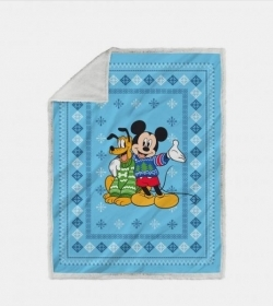 Plaid Topolino Copertina Cm 130 x 160 Stanpa Digitale Mickey Pluto