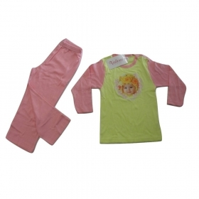 7990620c69 Pigiama Bambina Bimba Neonata Valerie Tabor Smith Lungo Art 806 Puro Cotone