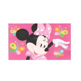 Tappeto Disney Minnie Cm 100 x 170 Antiscivolo Minnie Butterfly
