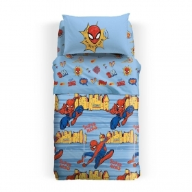 Copriletto Spiderman Caleffi Singolo Piquet Spiderman New York Copriletto Estivo