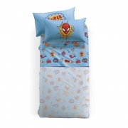 Lenzuola Spiderman Disney Caleffi Singola Spiderman New York Puro Cotone