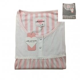 Camicia Notte Canotta Donna Milk and Honey CAE320 Puro Cotone Mezza Manica