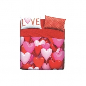 Lenzuola Bassetti Home Innovation Love Party Lenzuola Copriletto Made In italy