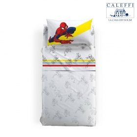 Lenzuola Disney Caleffi Singola Spiderman Colors Puro Cotone Spider Man