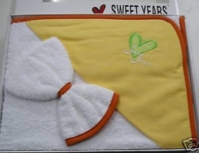 Triangolo Neonato In Spugna Sweet Years Friends Orange Sotto Costo